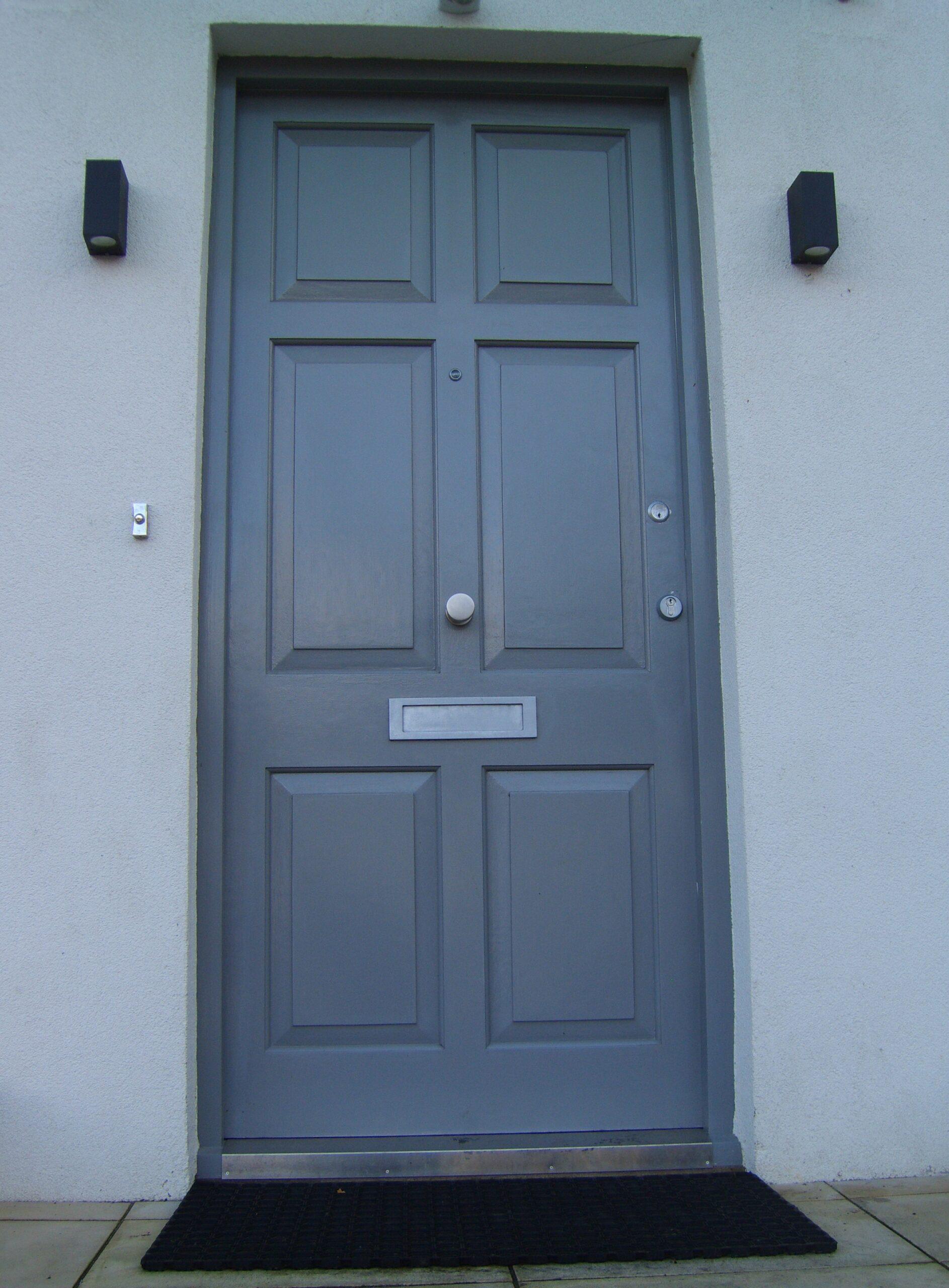 Wooden door with locks