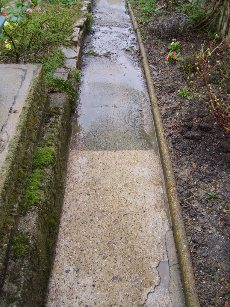 jet wash Barnet. Garden Path half finished