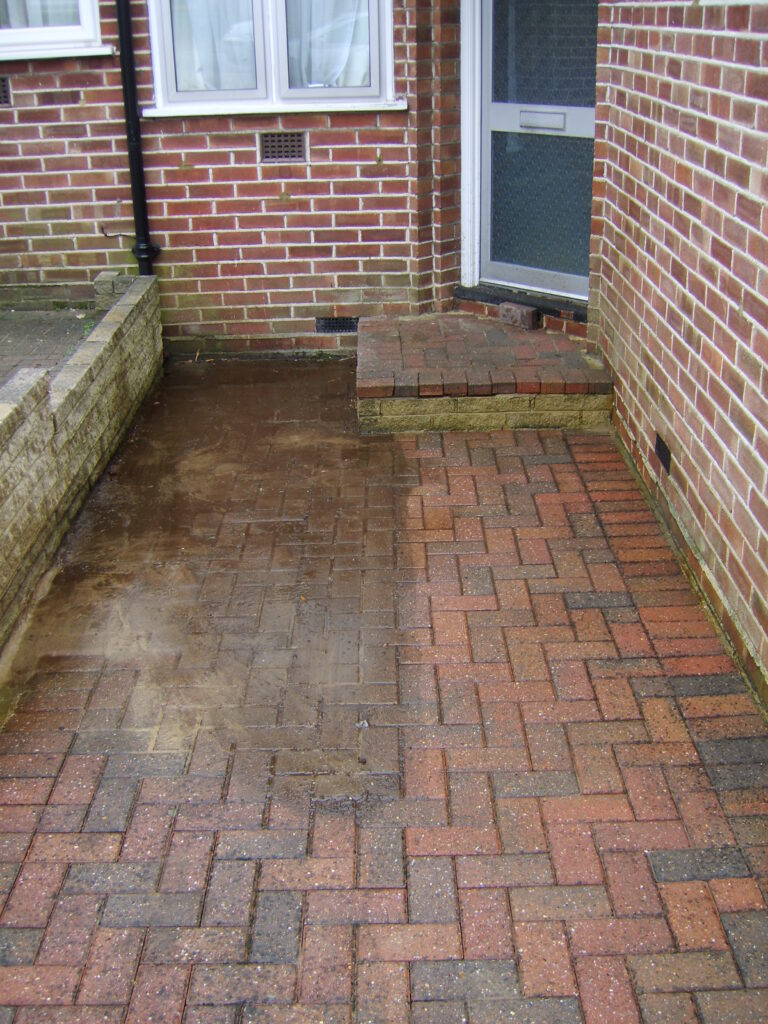 Patio and drive cleaing in Barnet. Highly effective on block paving